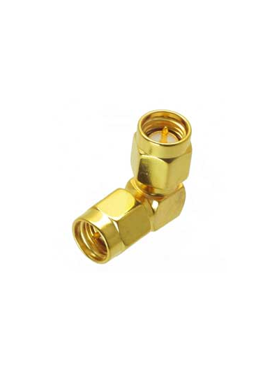 SMA Male to SMA Male Right Angle RF Connector Adapter